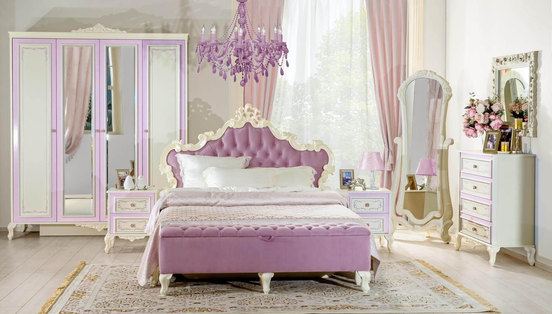 Мебельный гарнитур для комнаты девочки